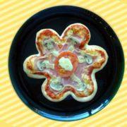 Kids pizza flower