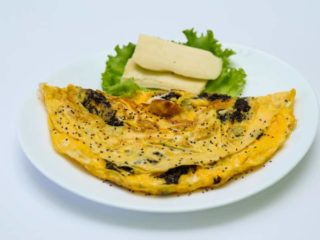 Chia omelet with cheese delivery