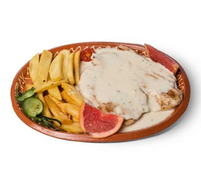 Turkey in sauce of four kinds of cheese delivery
