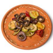 Grilled vegetables portion