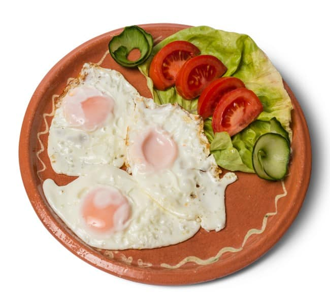 Fried eggs delivery
