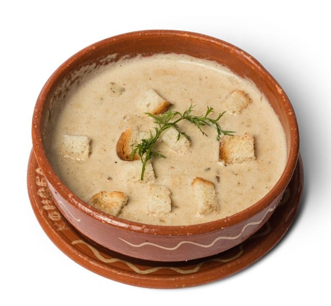 Cream soup with porcini delivery
