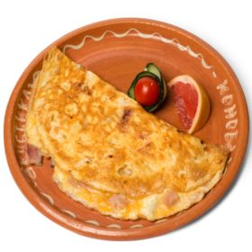 Omelet with bacon