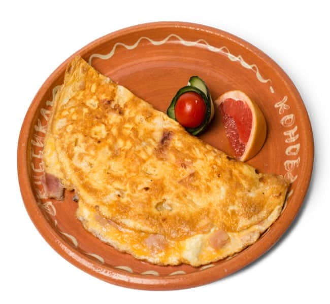 Omelet with bacon delivery