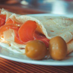Pancake prosciutto, cheese, sour cream delivery