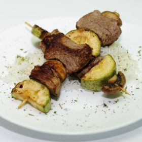 Kabob with beef and vegetables delivery