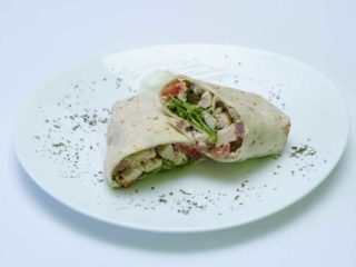 Tortilla with chicken, avocado delivery