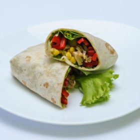 Vegetarian tortilla delivery