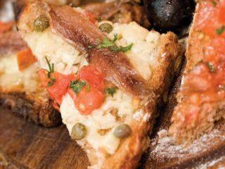 Mediterranean bruschetti delivery