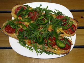 Mexicana bruschette Balkanika pizza sandwich bar delivery