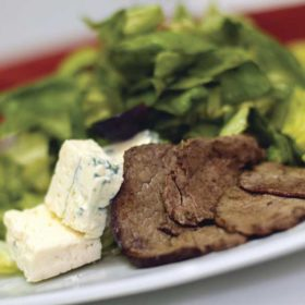 Insalata con bistecca e gorgonzola dostava