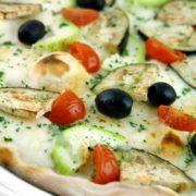 Pizza Zucchine  Melanzana e Pomodoro