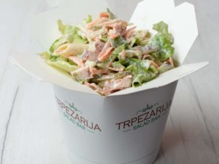Smoked chicken salad Trpezarija salad bar delivery