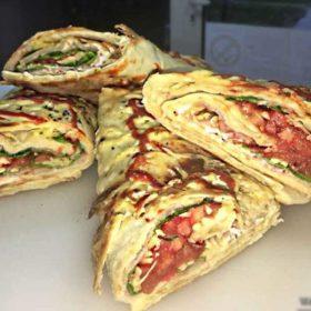 Roll sandwich ham