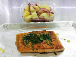 Salmon fillet meal delivery