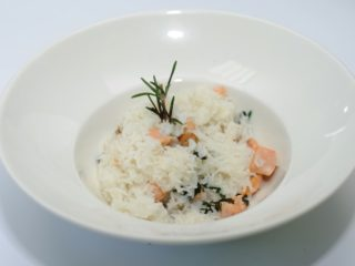 Risotto with salmon and dill delivery