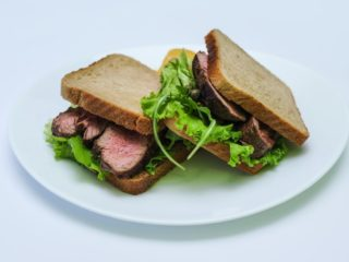 Sandwich with steak delivery