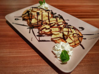 Pancake a la Garden banana choco delivery