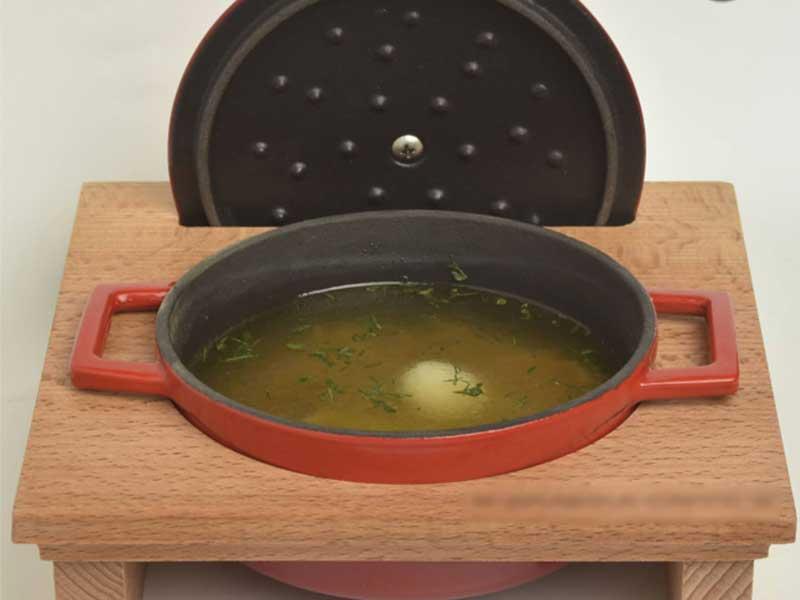 Domaća supa sa jajetom od prepelice dostava