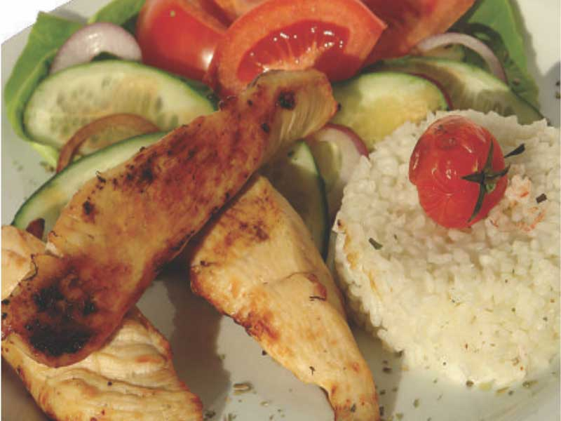 Fitness meal with chicken delivery