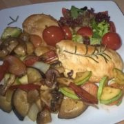 Chicken with grilled vegetables