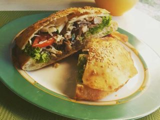 Sandwich with chicken and mushrooms delivery