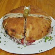 Pizza-sandwich smoked ham