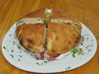 Pizza-sandwich smoked ham Michelangelo delivery