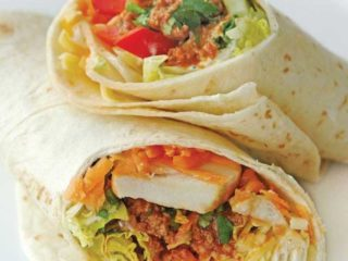 Burrito grande sandwich with minced meat delivery
