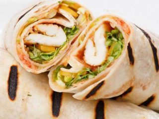 Burrito grande sandwich with chicken fillete delivery
