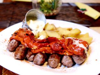 Cevapi with paprika and kajmak delivery