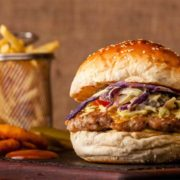 Chicken curry burger