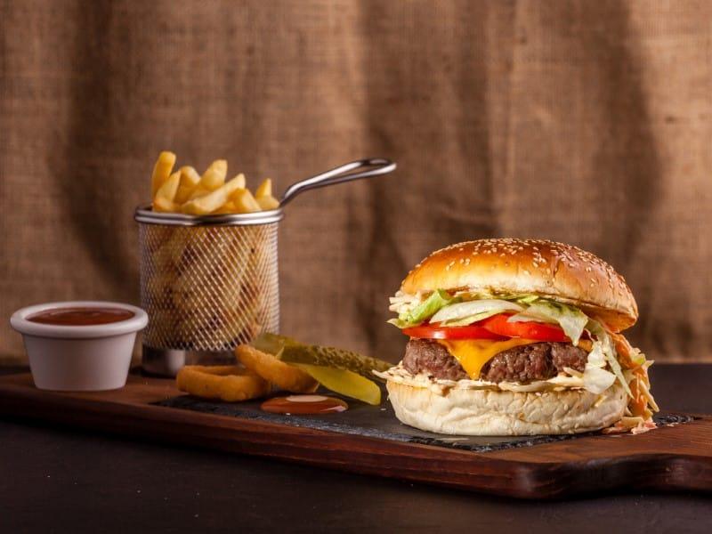 Coleslaw burger delivery