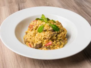 Risotto with beefsteak delivery