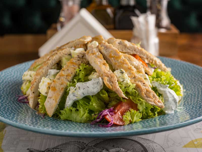 Salata sa ćuretinom i mariniranom fetom dostava