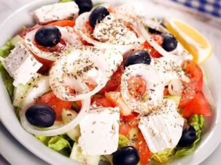 Greek meal salad delivery