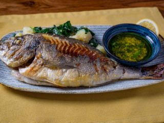 Grilled sea bream Piccante delivery