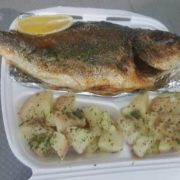 Fresh grilled bream with side dish