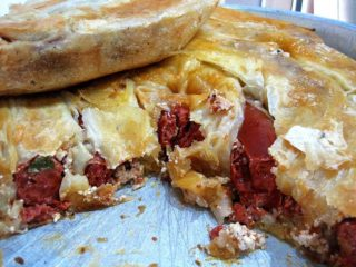 Pie with sausage delivery