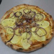 Skimmed pizza