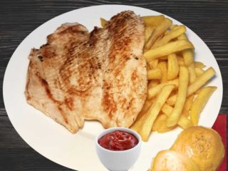 Grilled chicken white with french fries dostava