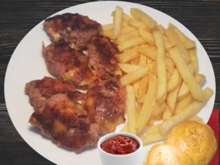 Fritters from Leskovac with french fries dostava