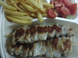 Chicken skewer meal delivery