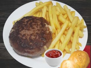 'Salas'' 011 stuffed burger with french fries dostava