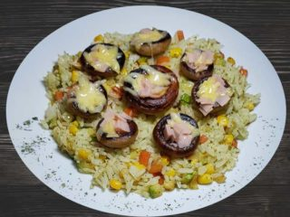 Stuffed grilled mushrooms dostava