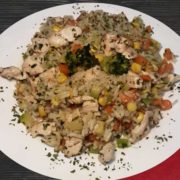 Chicken risotto with vegetables