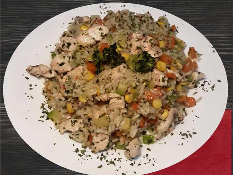 Rižoto sa piletinom i povrćem dostava