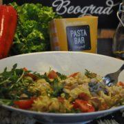 Prosciutto rocket pasta