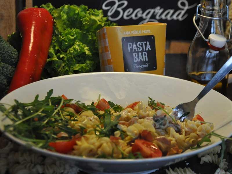 Prosciutto rocket pasta delivery