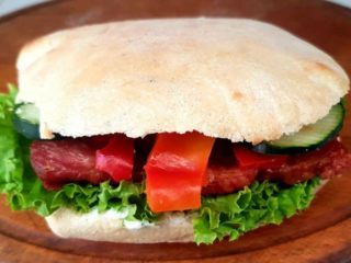 Smoked neck sandwich Taze Toplo delivery